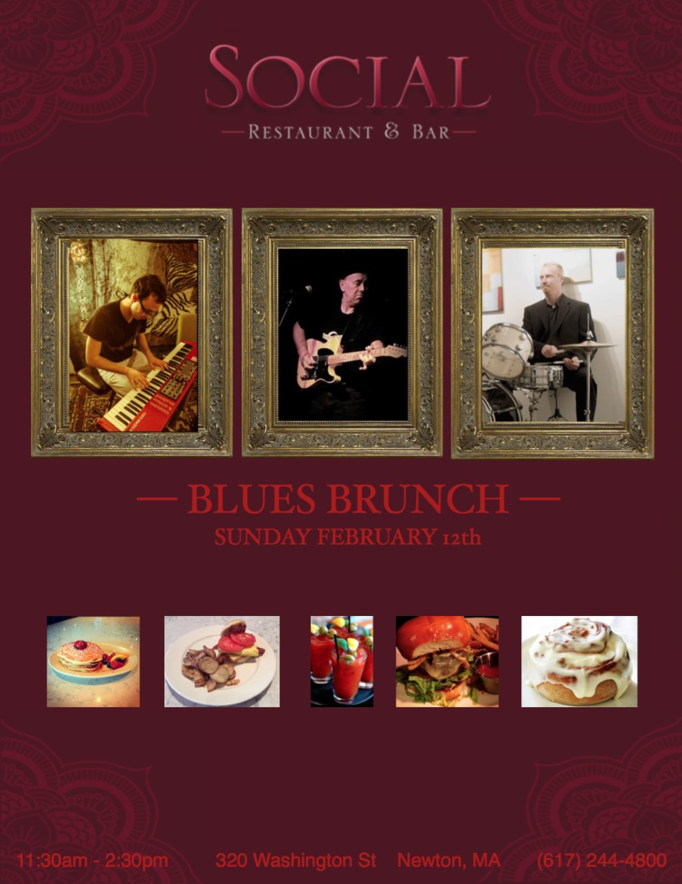 Sunday Blues Brunch @ Social Restaurant & Bar | Newton | Massachusetts | United States